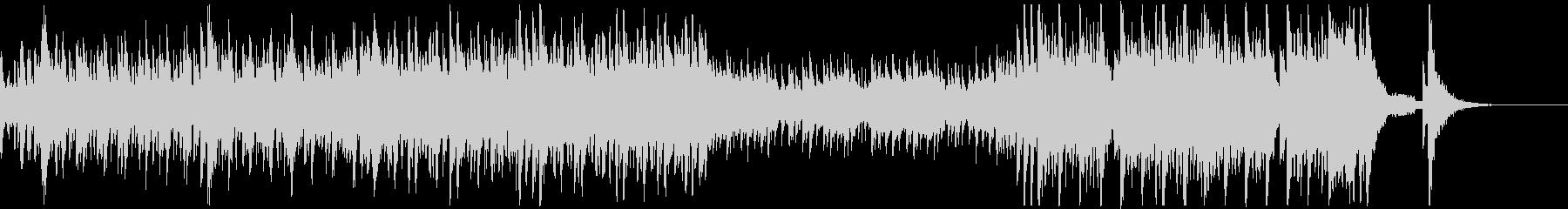 太鼓と三味線と尺八の迫力あるアンサンブルの未再生の波形