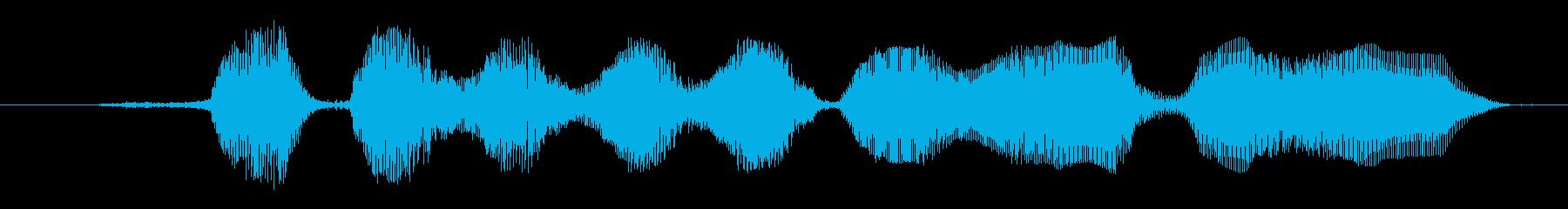 鳴き声 ゴブリン笑い04の再生済みの波形
