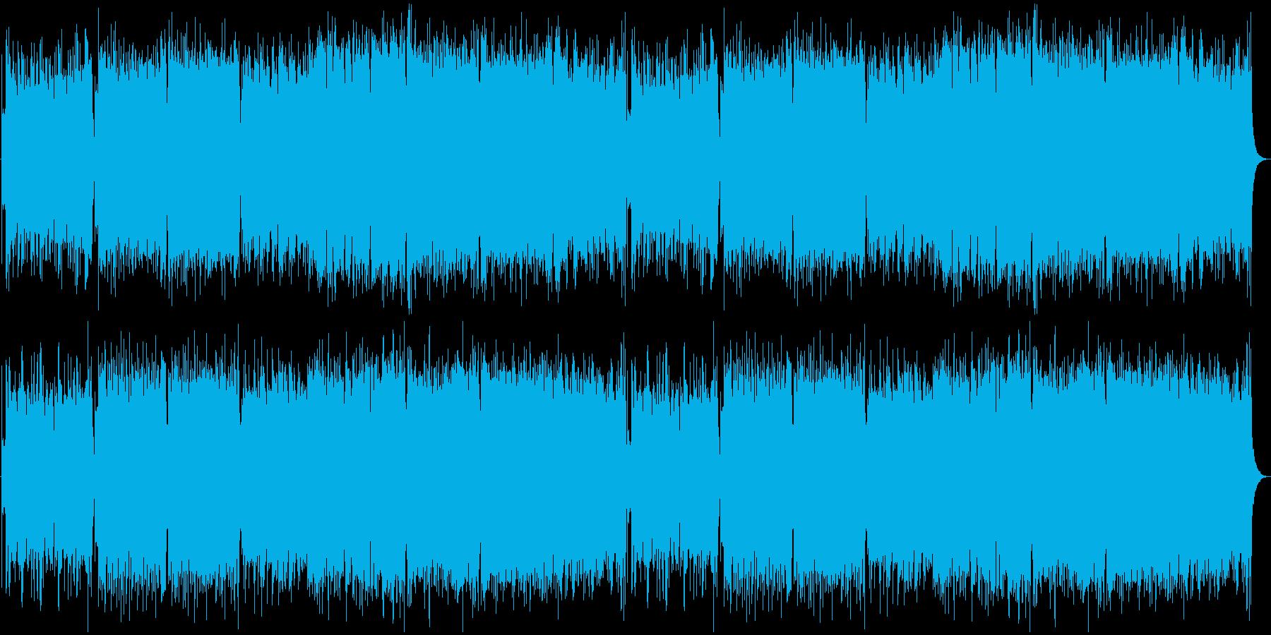 和風ハードロック戦闘曲の再生済みの波形