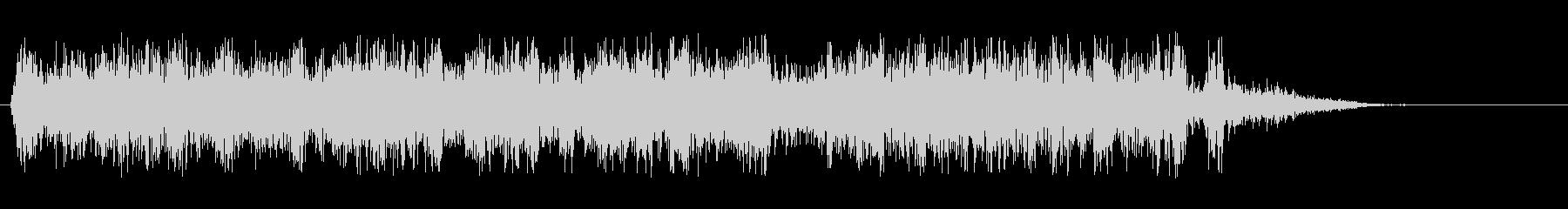 シューウァという爽やかな効果音の未再生の波形