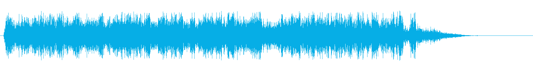シューウァという爽やかな効果音の再生済みの波形