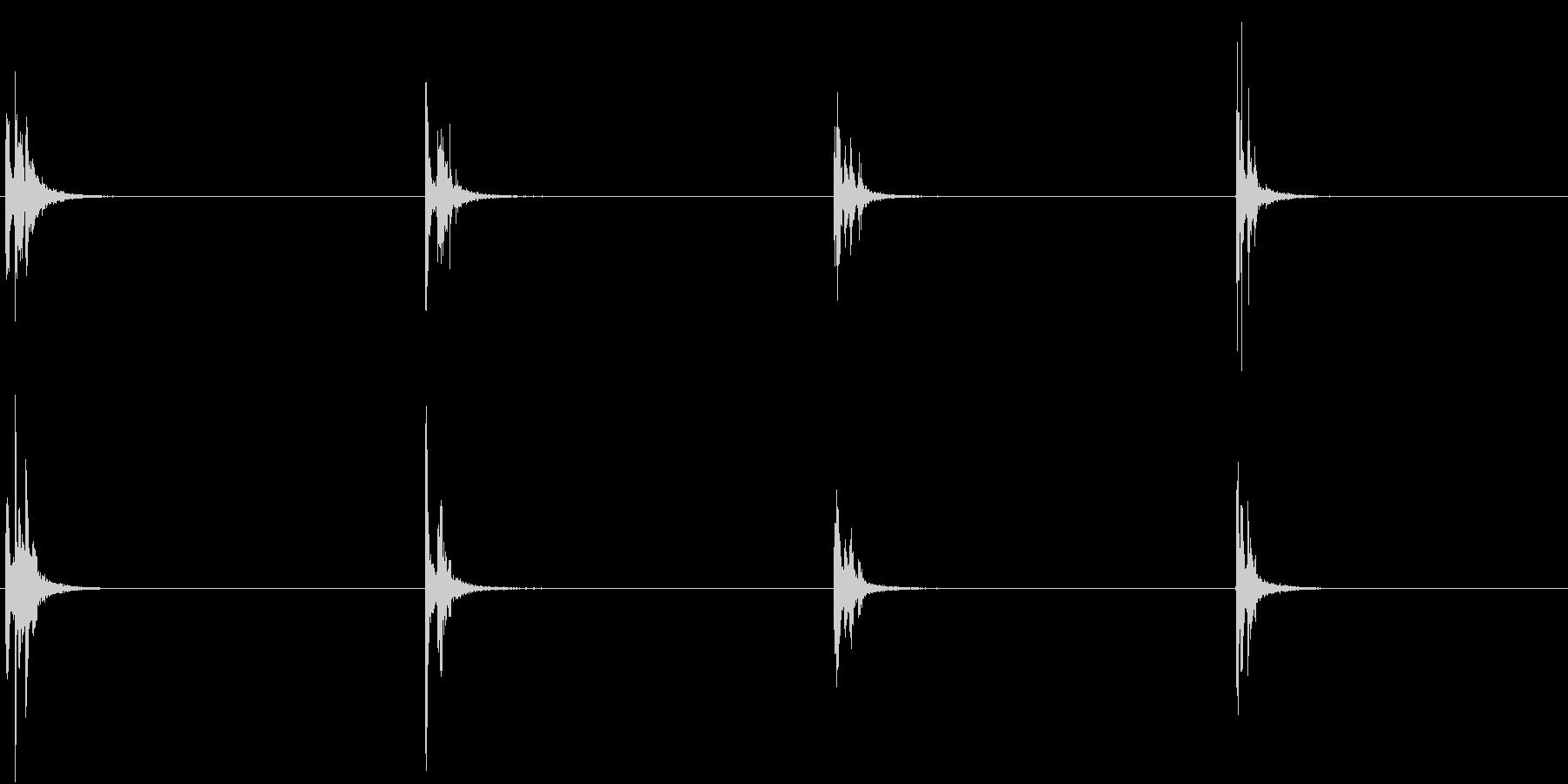 【生録音】お箸の音 44 カツカツ当たるの未再生の波形