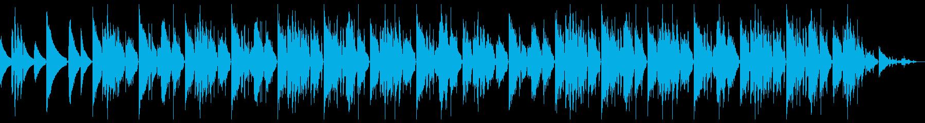 ネオソウルギターとサックスのチルホップの再生済みの波形
