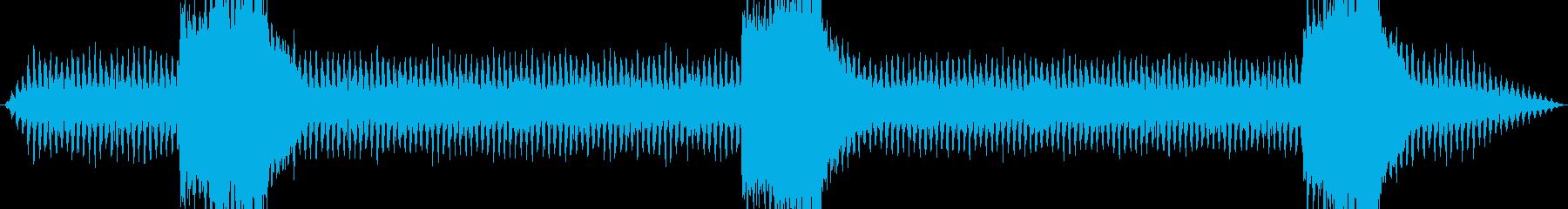 鉄道サウンド 蒸気機関車 走行音 汽笛の再生済みの波形