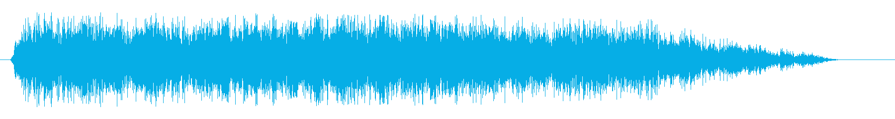 スパン(スネアドラム単発)の再生済みの波形