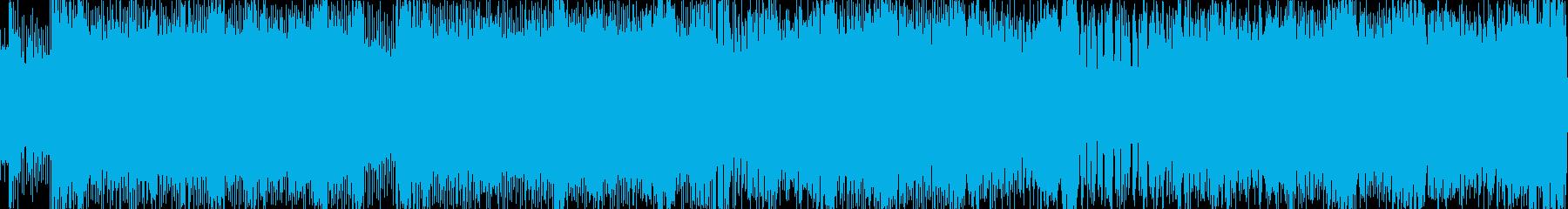 ロックハードギターバトルBGMループの再生済みの波形