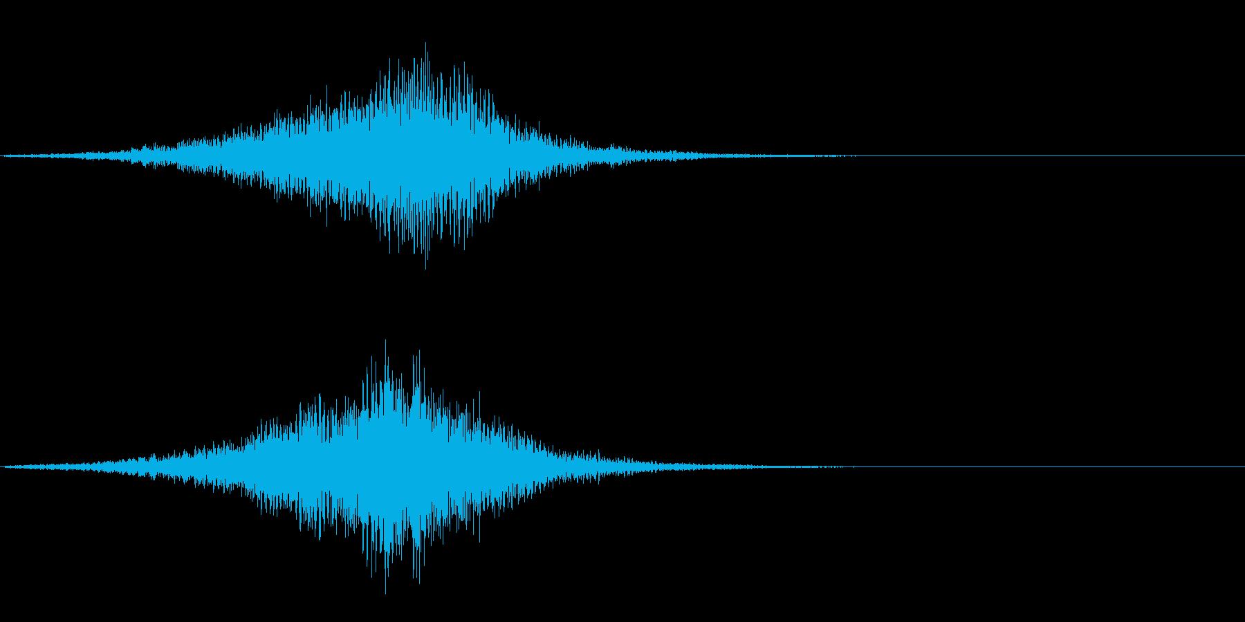 魔法のワープ呪文音の再生済みの波形