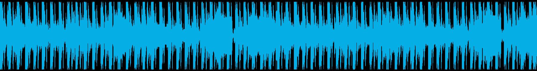 エスニックなパーカッションとリード...の再生済みの波形