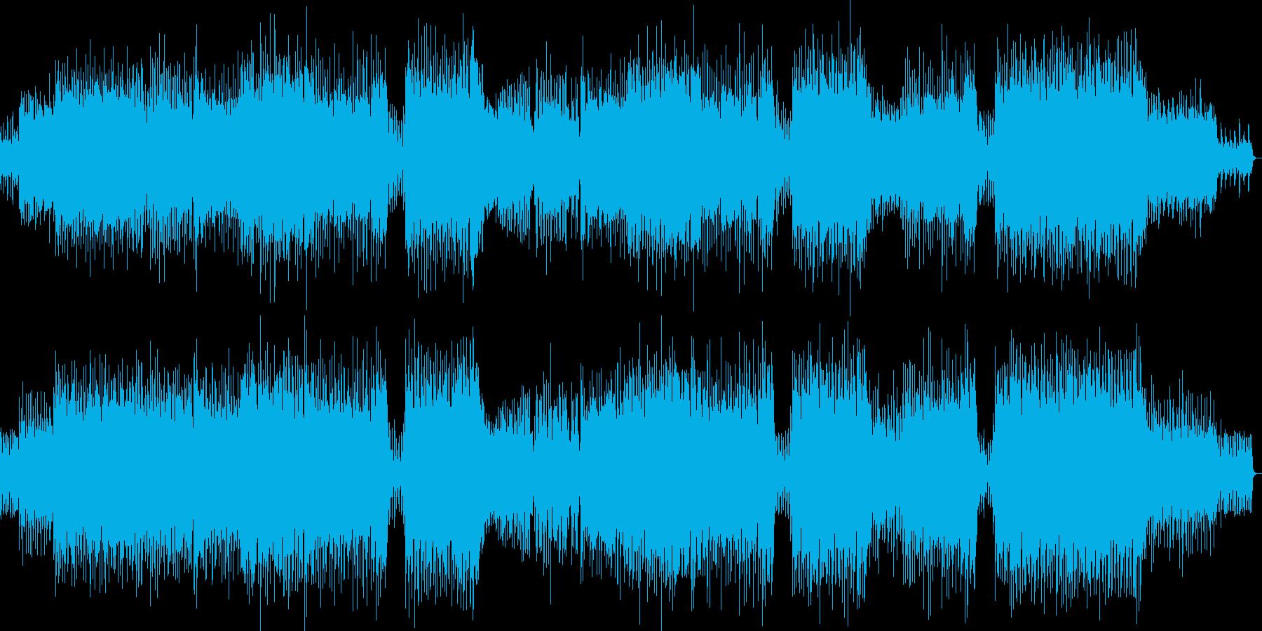 軽快で楽しい雰囲気のクリスマスソングの再生済みの波形
