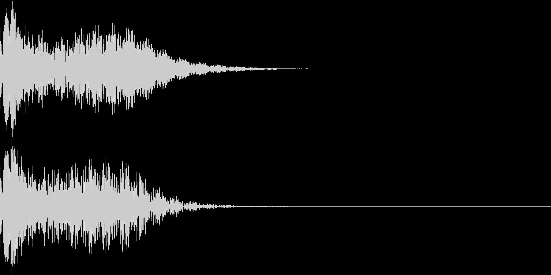 キュイン 光 ピカーン フラッシュ 15の未再生の波形