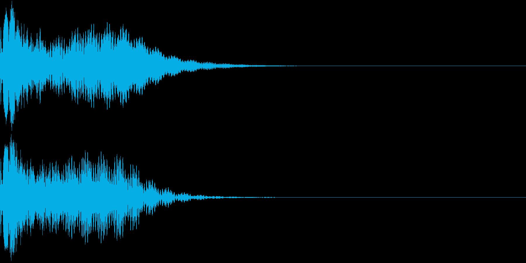 キュイン 光 ピカーン フラッシュ 15の再生済みの波形