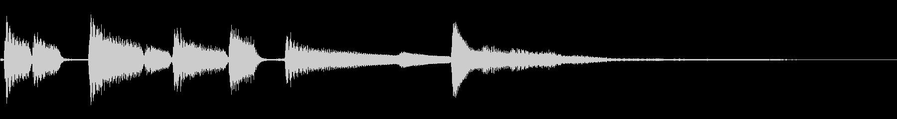 ジングル用 日常のはじまりの未再生の波形