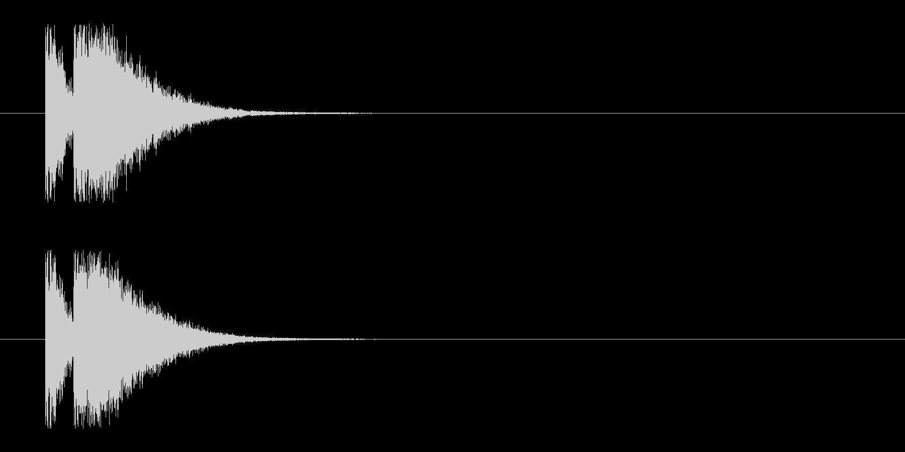 ビームライフル1★リバーブ有の未再生の波形