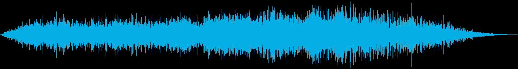 大型旅客機の離陸(滑走路の始まり)の再生済みの波形