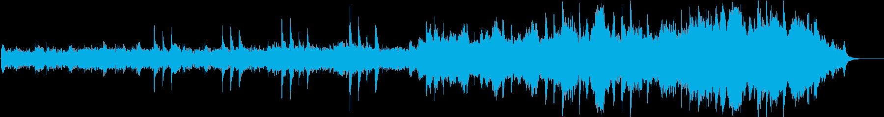 ピアノとストリングスのゆったりとした曲の再生済みの波形