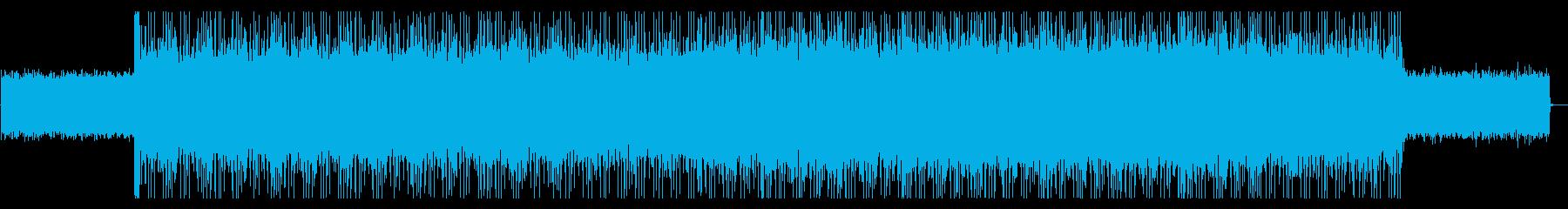 オープニングに 爽やかなハードロックの再生済みの波形