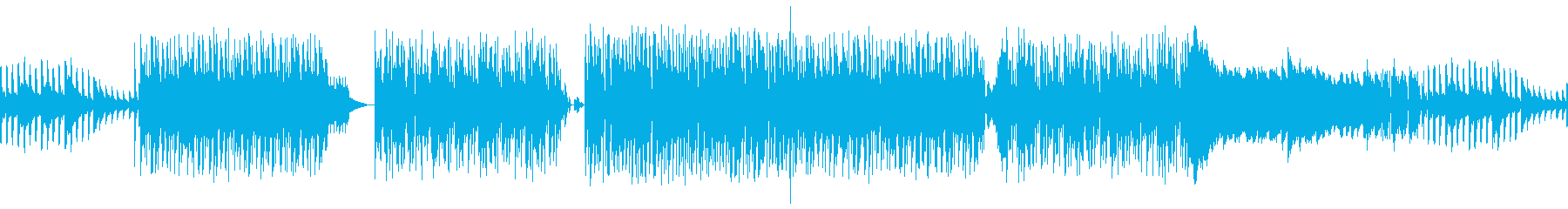 無限の渦の抽象的な色。の再生済みの波形