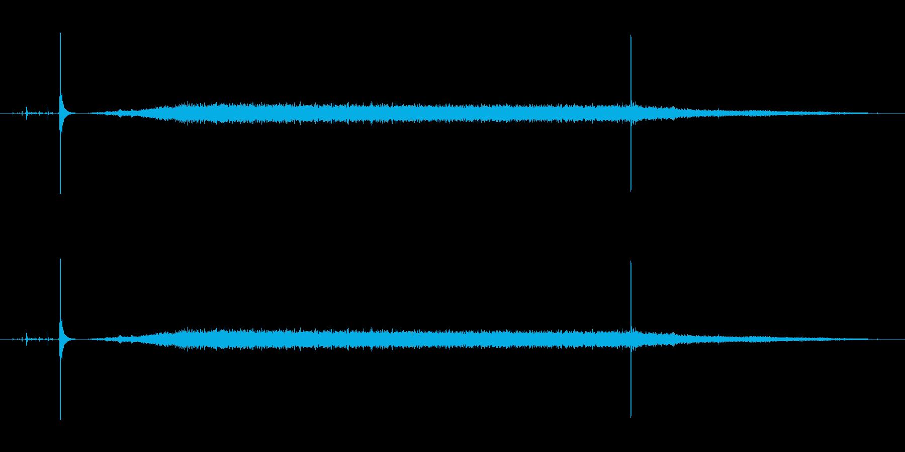 掃除機の動作音2の再生済みの波形