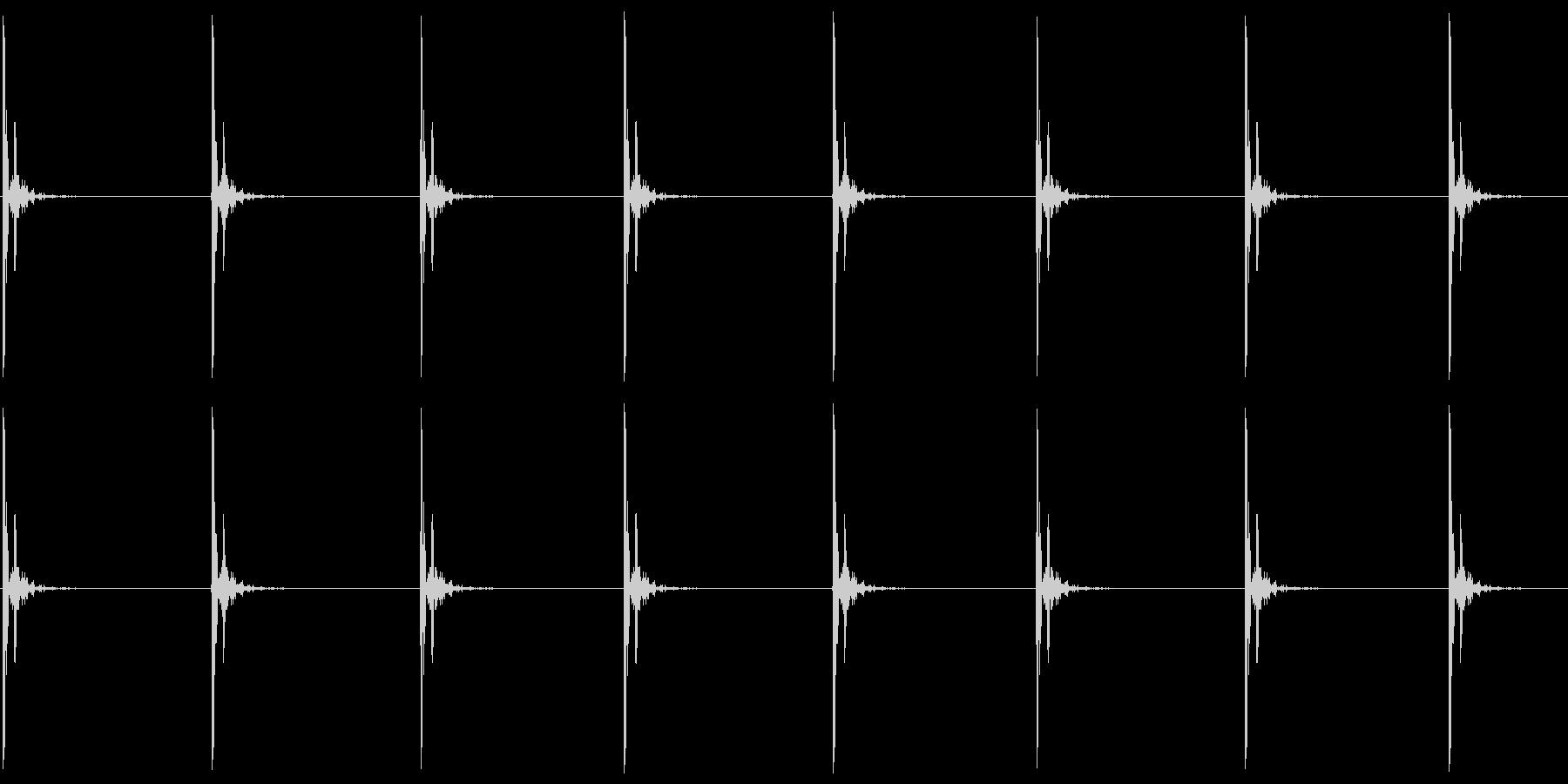 コツコツ…(ヒールの足音・小走り)の未再生の波形