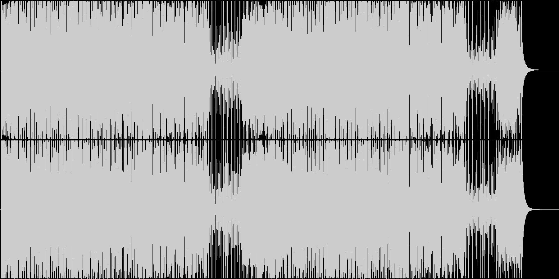 お祭りに合う和風ポップス(ループなし)の未再生の波形