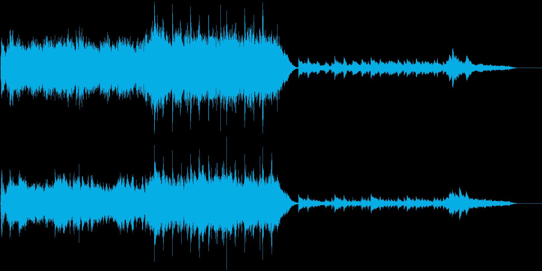 オケと合唱のキラキラした壮大なクリスマスの再生済みの波形