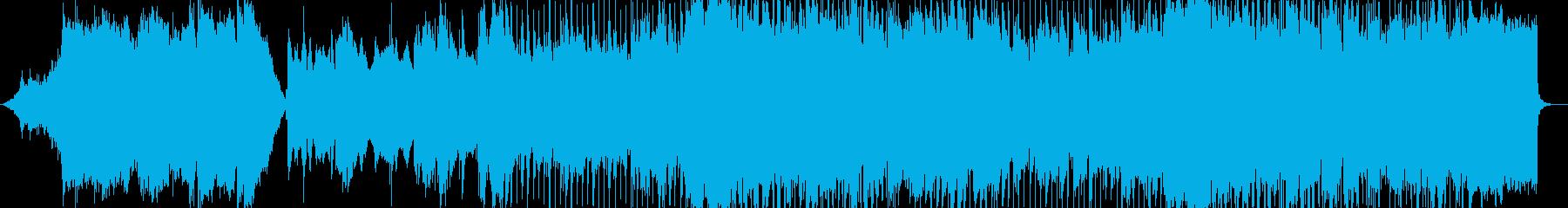 抒情的なメロディを奏でるシンセサイザーの再生済みの波形