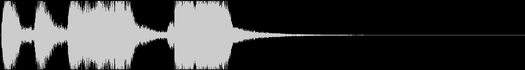 インパクトのあるオープニングロゴの未再生の波形