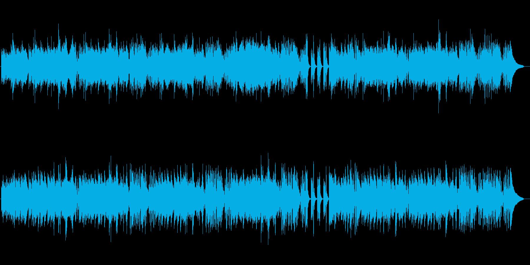 RPGフィールド曲風なオケ曲(ピアノ版)の再生済みの波形