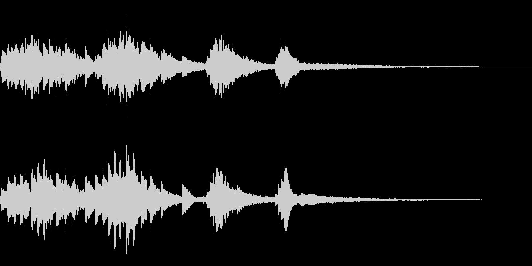 暗く艶やかな和風ジングル42-ピアノソロの未再生の波形