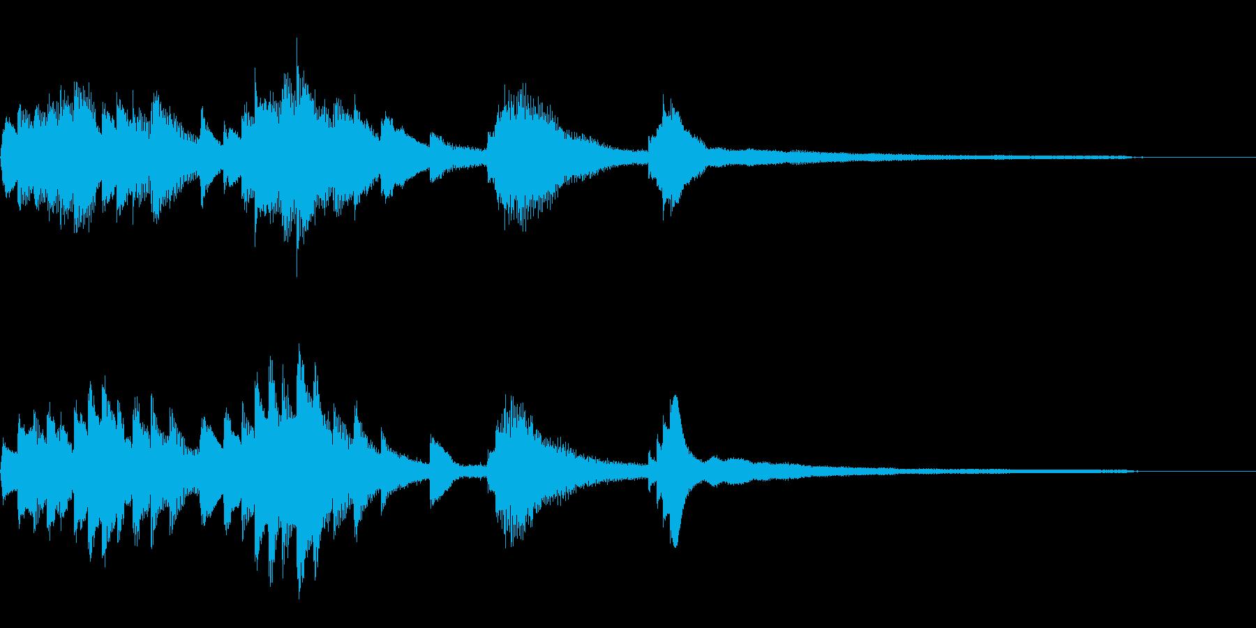 暗く艶やかな和風ジングル42-ピアノソロの再生済みの波形