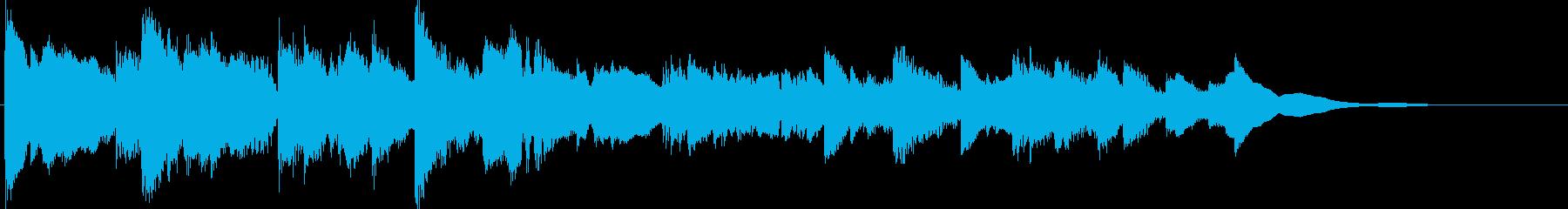 キーボードの音色のみのキラキラした曲の再生済みの波形
