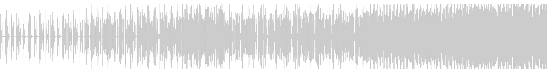 無機質でシンプルなテクノBGMの未再生の波形