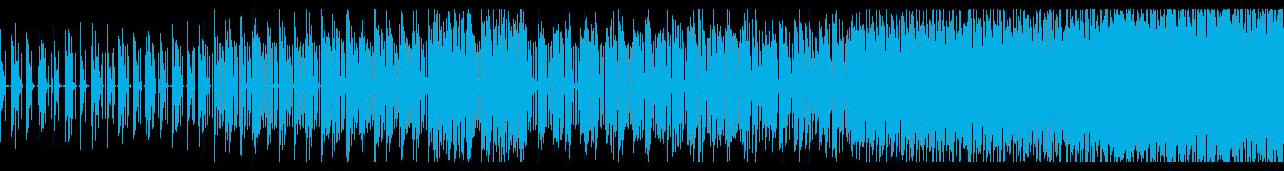 無機質でシンプルなテクノBGMの再生済みの波形