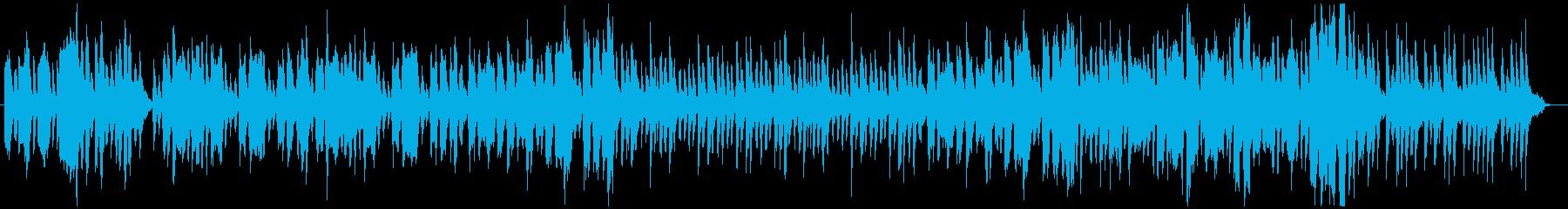 昔話に使われるようなほのぼのした音楽の再生済みの波形