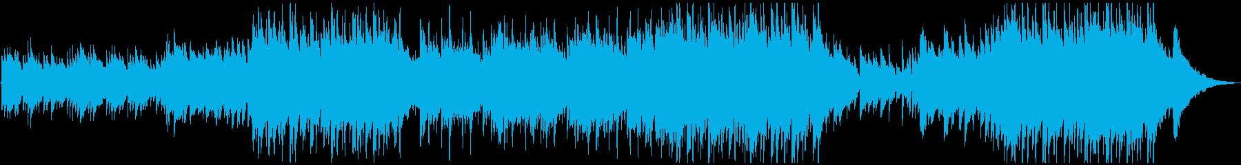 アコースティックライトポップロックの再生済みの波形