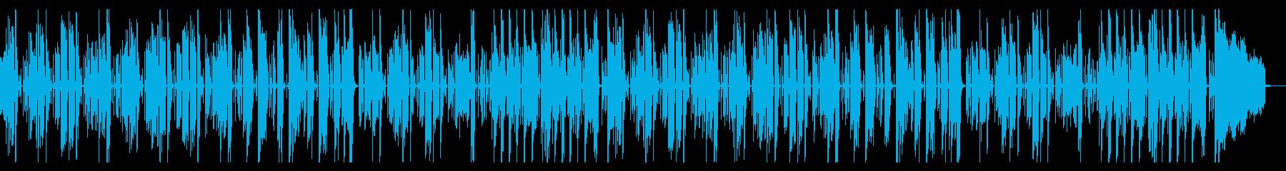 コミカルでほんわかゆったりした曲の再生済みの波形