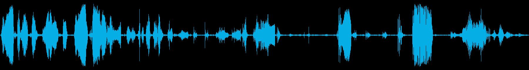 怒り、ゴロゴロ、グルーニング、フラ...の再生済みの波形