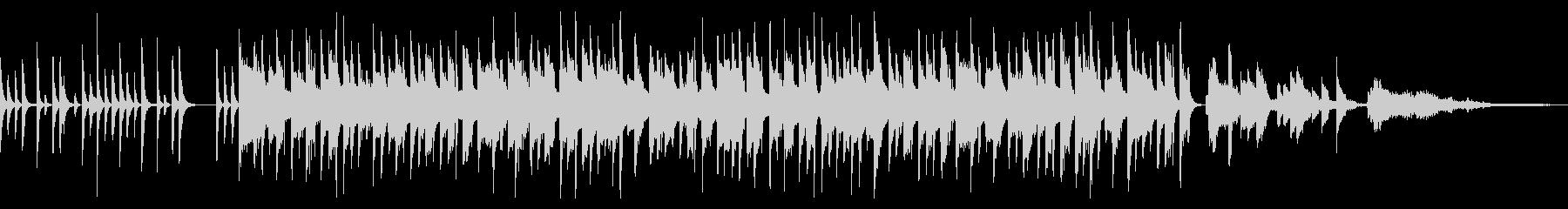 ガットギターを使った明るいボサノバBGMの未再生の波形