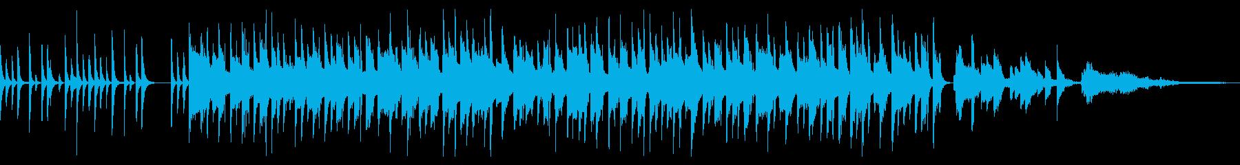 ガットギターを使った明るいボサノバBGMの再生済みの波形