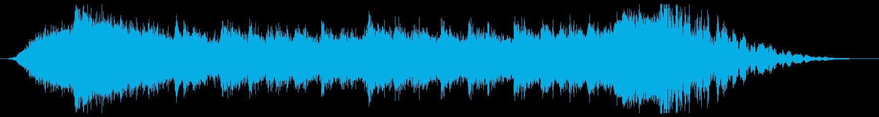 ワークアウト風のエピックサウンドロゴの再生済みの波形