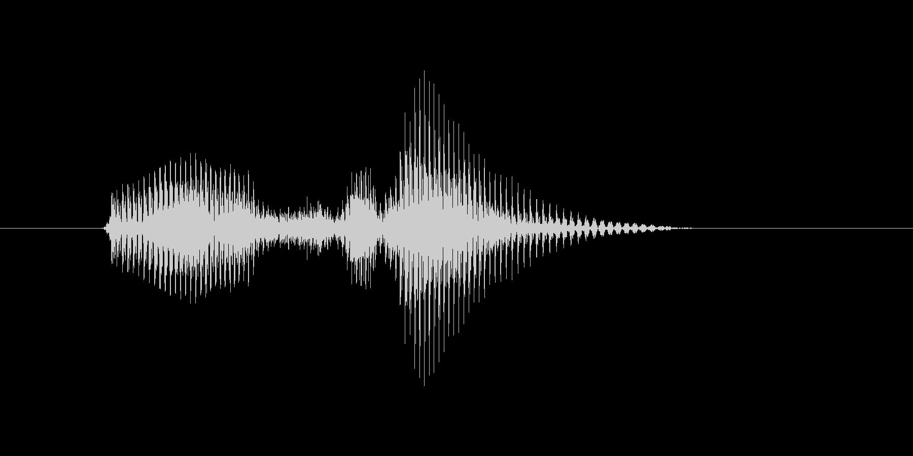 ベースラインの未再生の波形