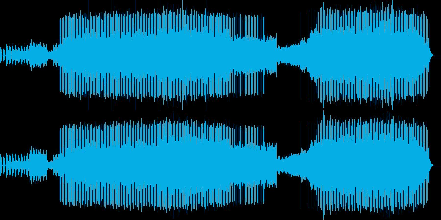 正月の定番曲「春の海」のテクノアレンジの再生済みの波形