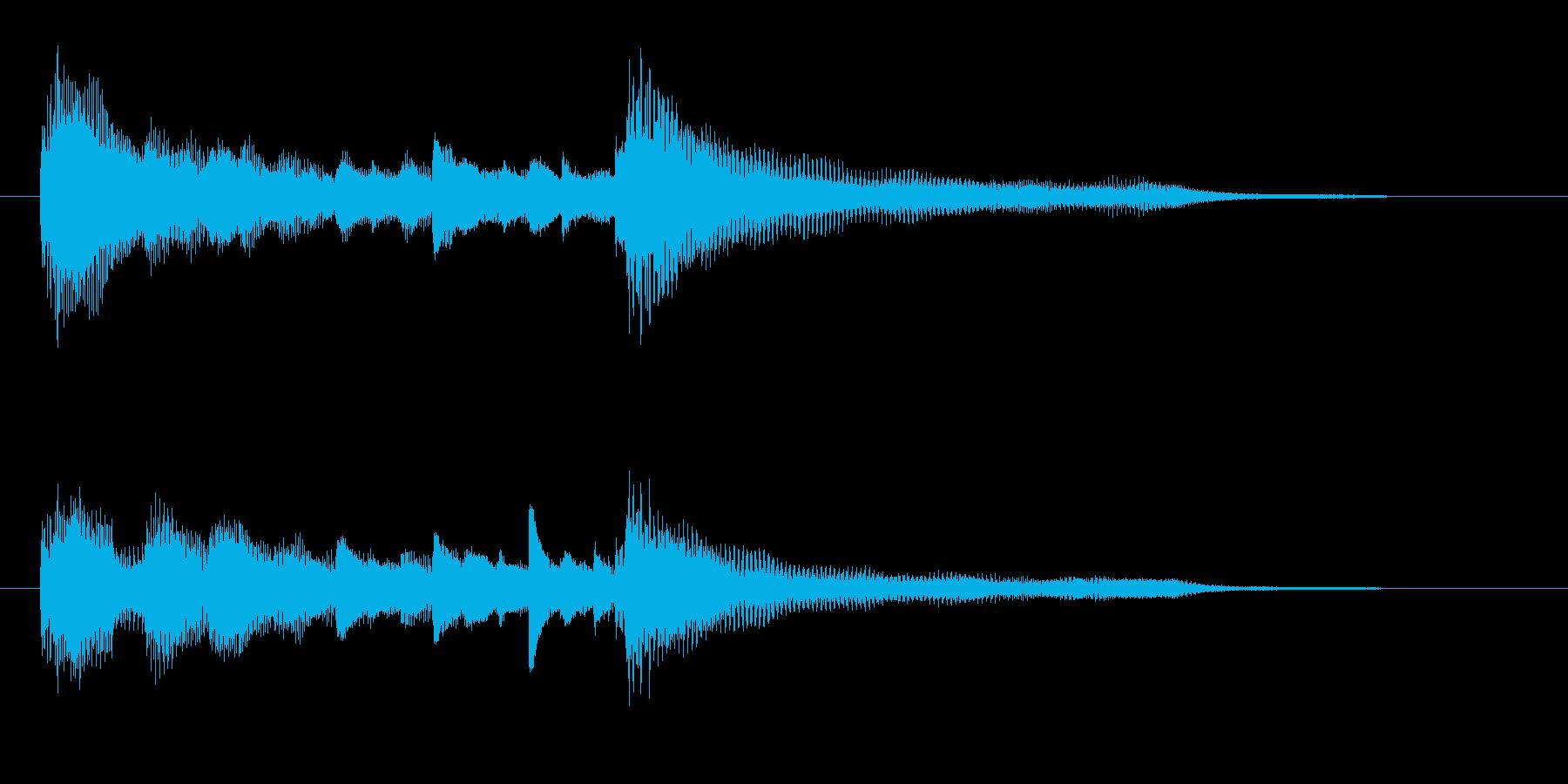 アコースティックギターとピアノのリ...の再生済みの波形