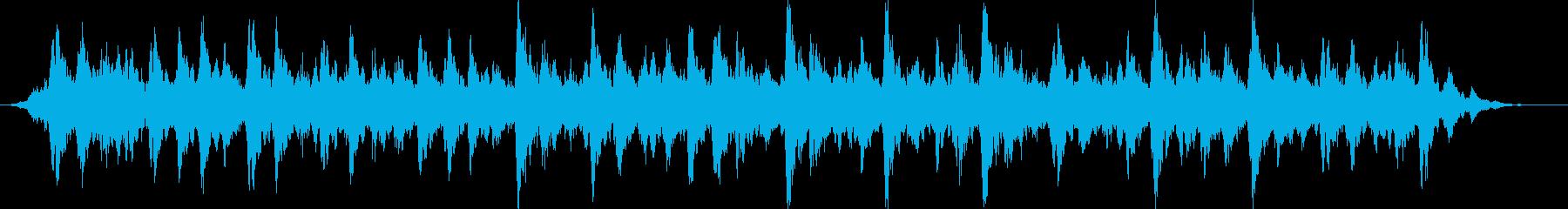 ホラー映画の雰囲気のBGMの再生済みの波形