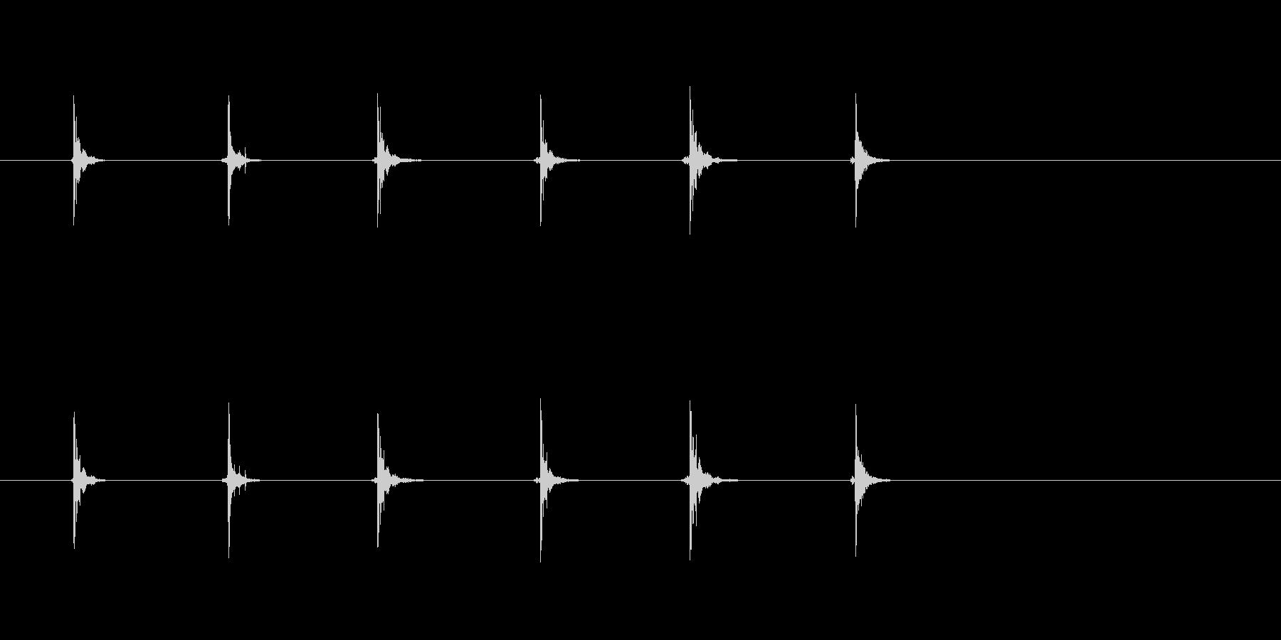 フェイスパンチ(6x);六、顔に高...の未再生の波形