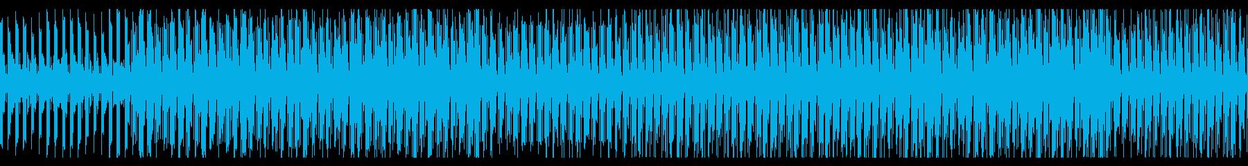 退屈でけだるげな日常系BGMの再生済みの波形