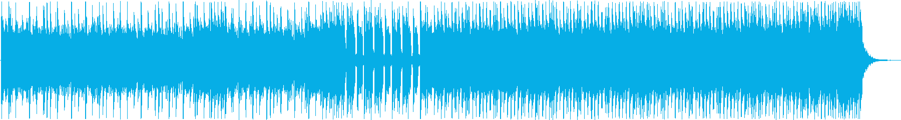 激しいリズムのヘビーメタルの再生済みの波形