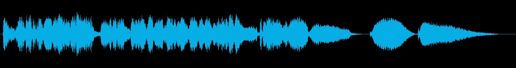 情熱、エネルギッシュなバイオリン独奏曲の再生済みの波形