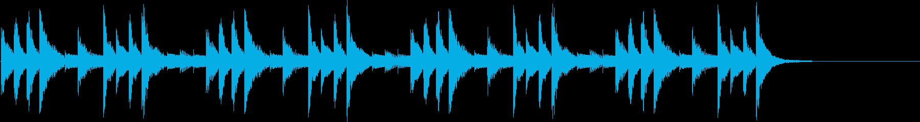 明るいマリンバメインのジングルの再生済みの波形