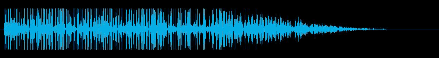 レトロな砲撃・爆発音#2の再生済みの波形